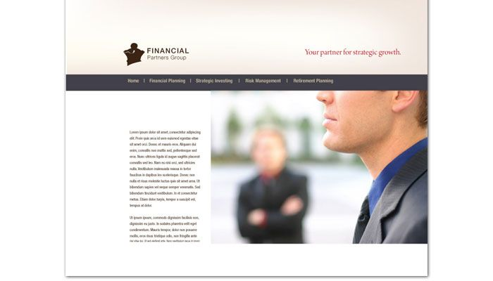 Financial Planner Website Design Layout
