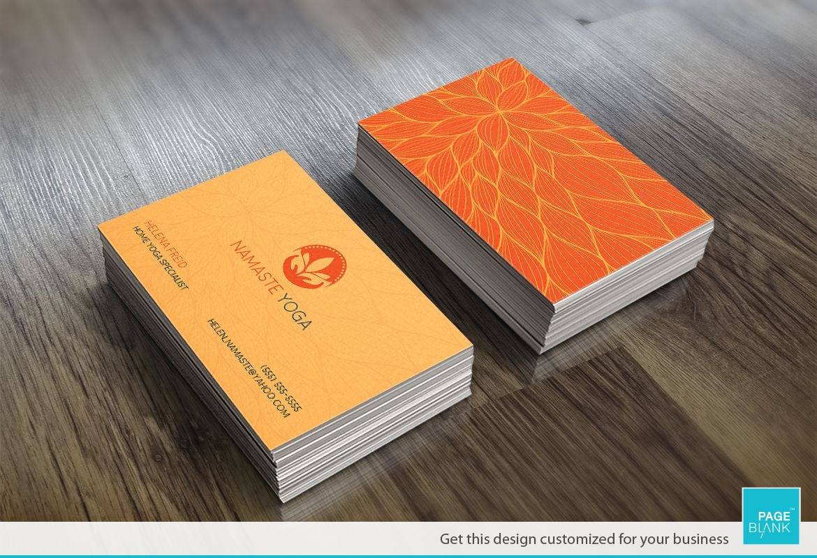 Floral Business Card Design Layout