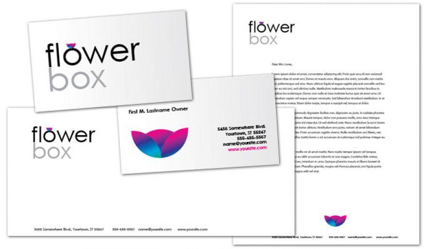 Florist Flower Shop Envelope Design Layout
