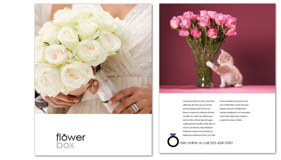 Florist Flower Shop Flyer Design Layout
