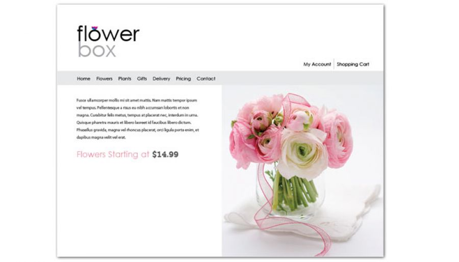 Florist Flower Shop Website Design Layout