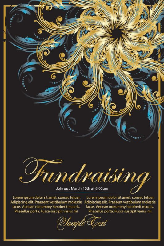 Fundraising Campaign Poster Design Layout