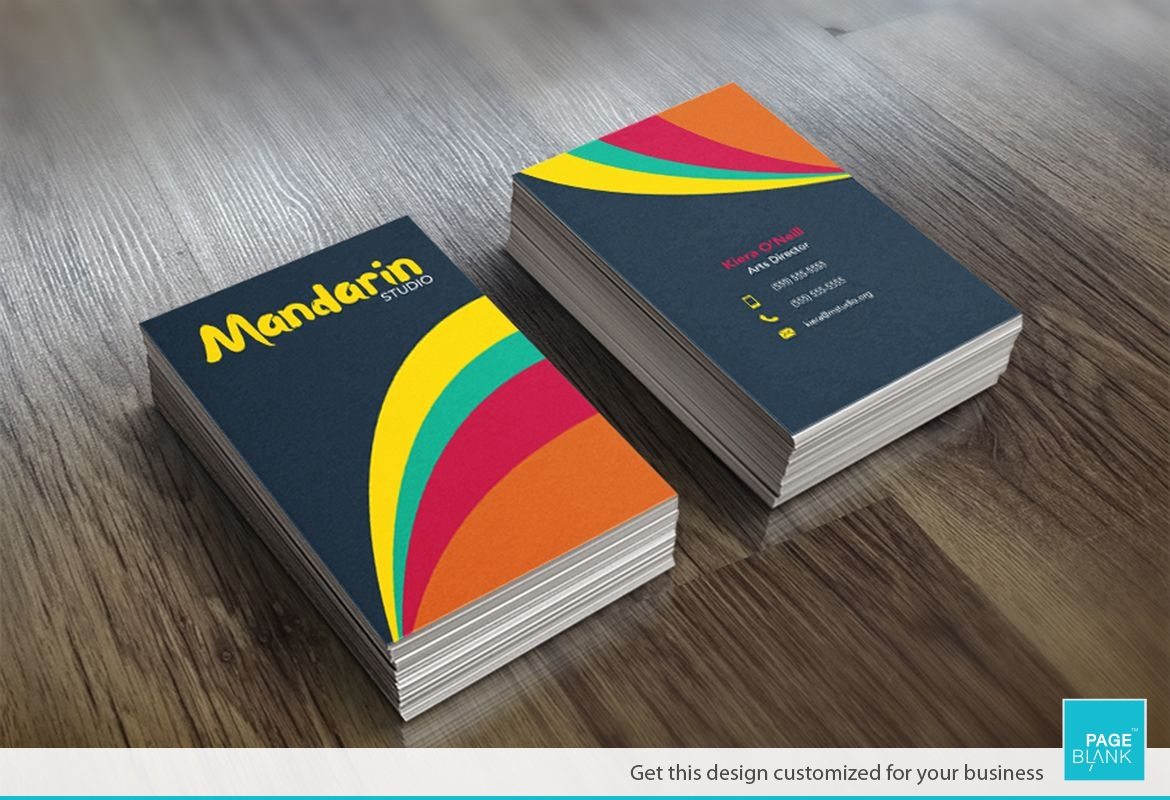 Funky Business Card Design Layout