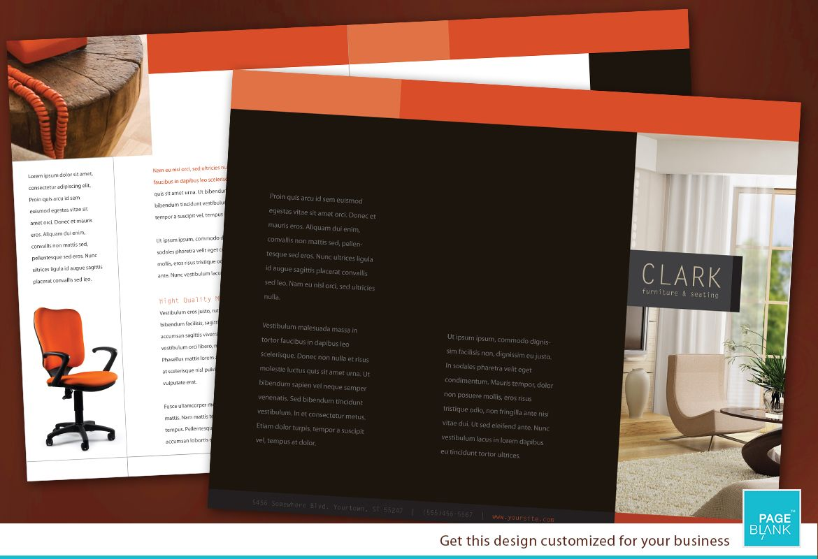 Furniture Business Tri Fold Brochure Design Layout