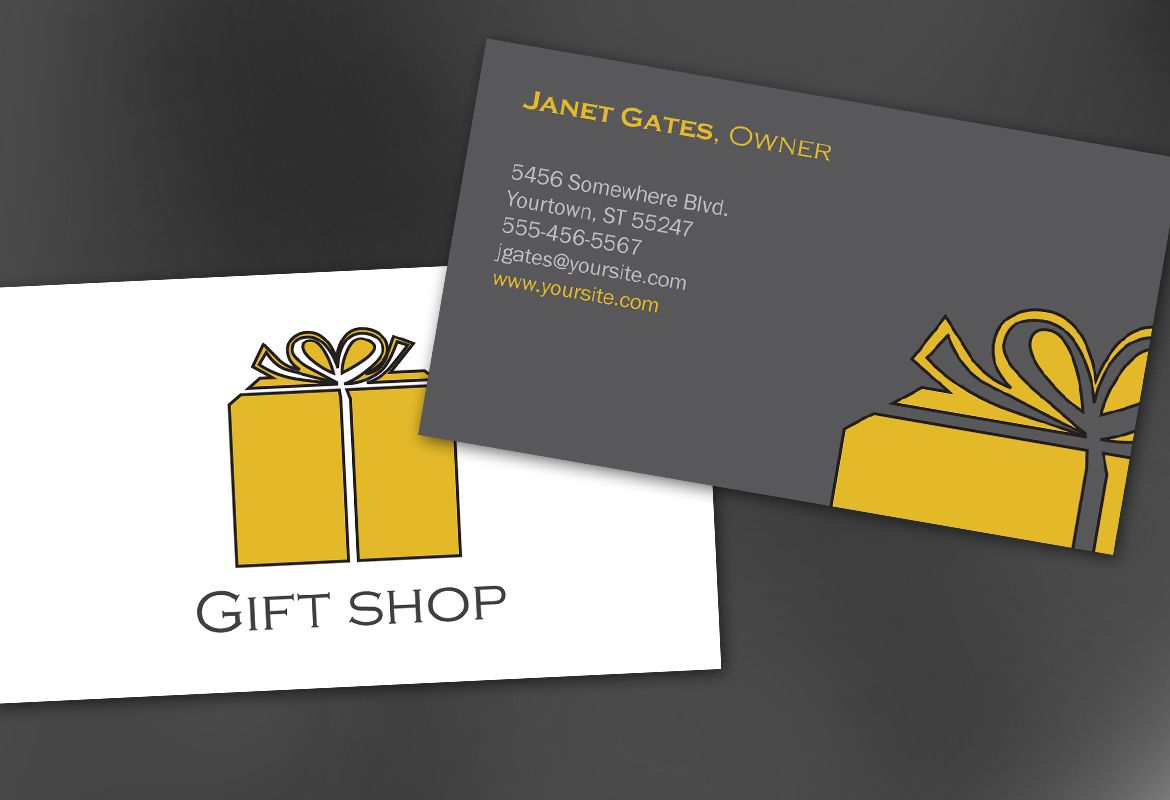 Business Card template for Gift shop retail store. Order Custom ...