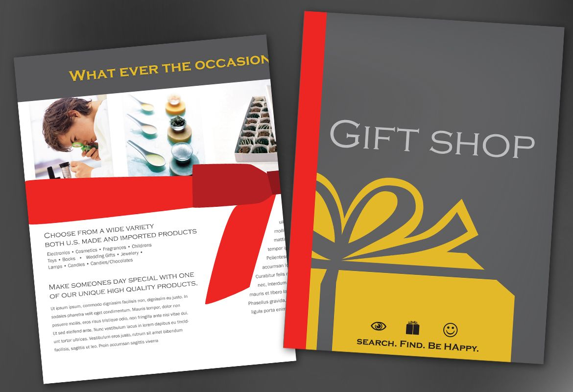 Gift shop retail store Flyer Design Layout