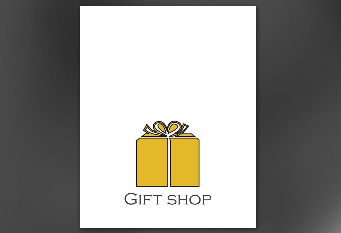 Gift shop retail store Poster Design Layout