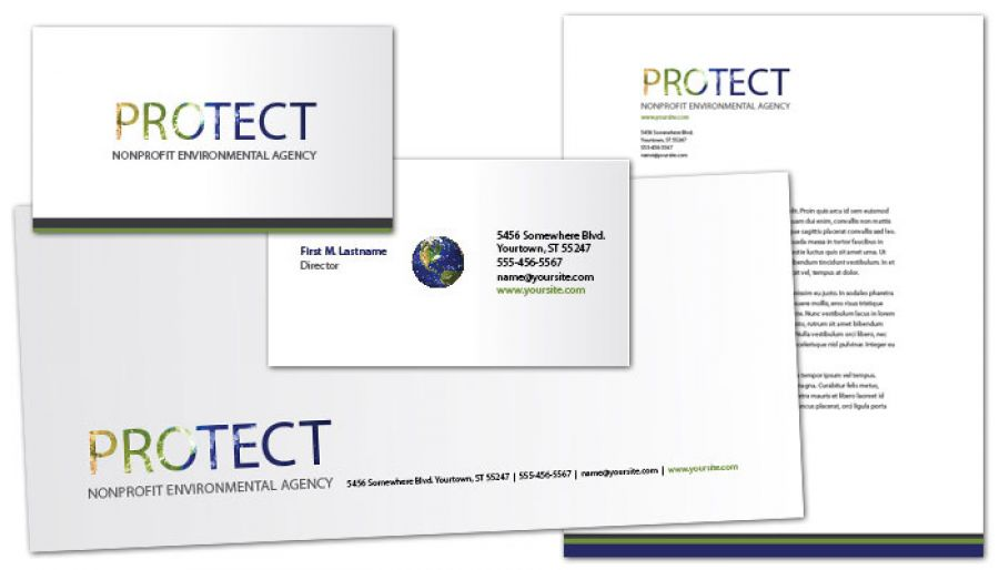 Go Green Environmental Agency Envelope Design Layout