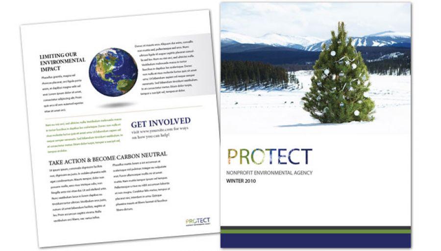 Go Green Environmental Agency Flyer Design Layout