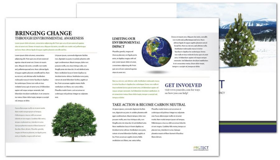 Go Green Environmental Agency Half Fold Brochure Design Layout