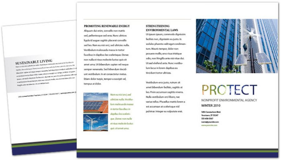 Go Green Environmental Agency Tri Fold Brochure Design Layout