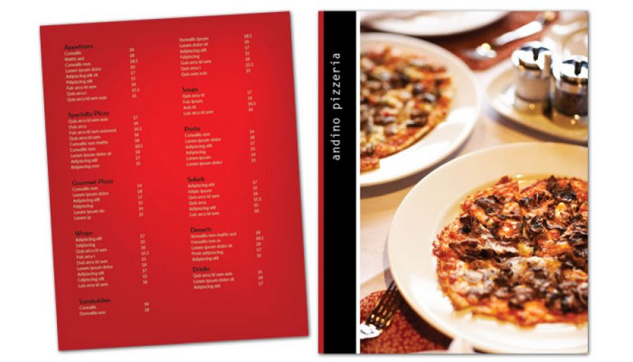 Gourmet Pizza Flyer Design Layout