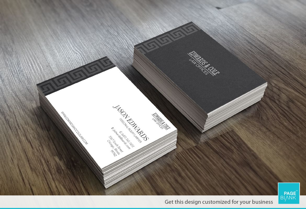 Greek Key Business Card Design Layout