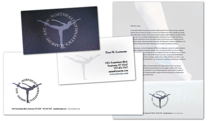Gym Fitness Personal Trainer Envelope Design Layout