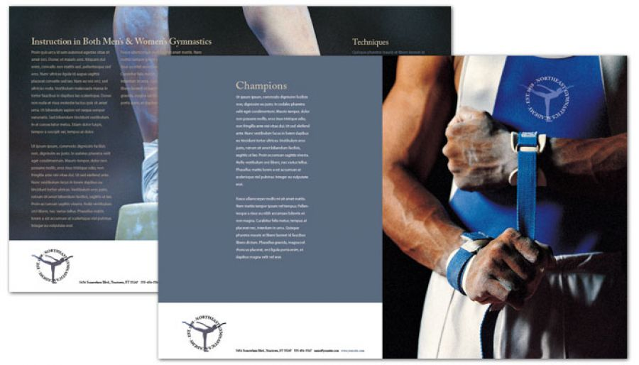 Half fold brochure template for gym fitness personal for Personal brochure templates
