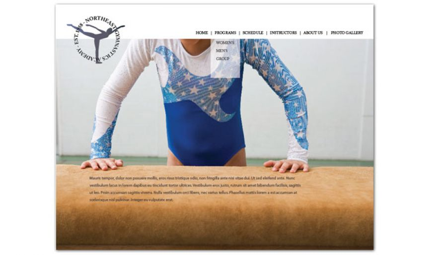 Gym Fitness Personal Trainer Website Design Layout