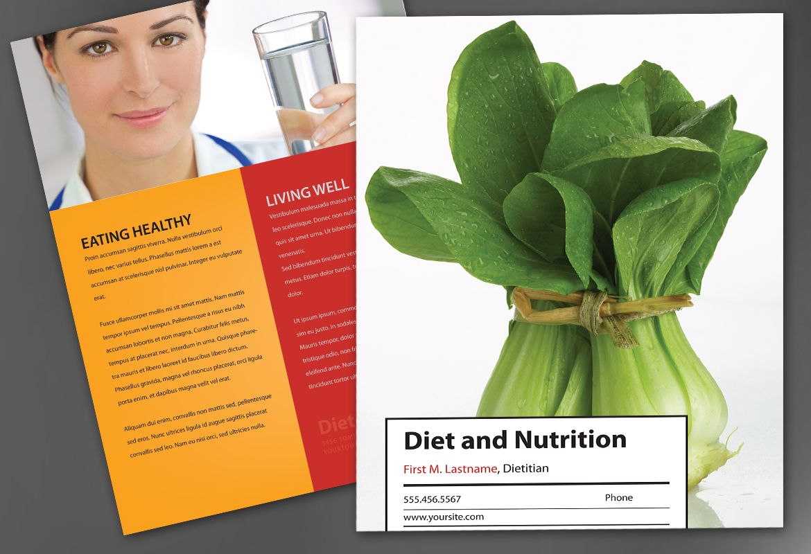 Health and Nutrition Flyer Design Layout