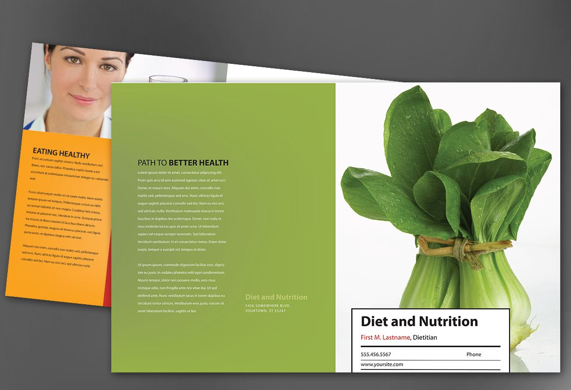 Health and Nutrition Half Fold Brochure Design Layout