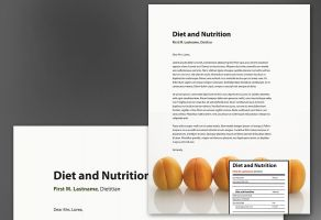 Health and Nutrition-Design Layout