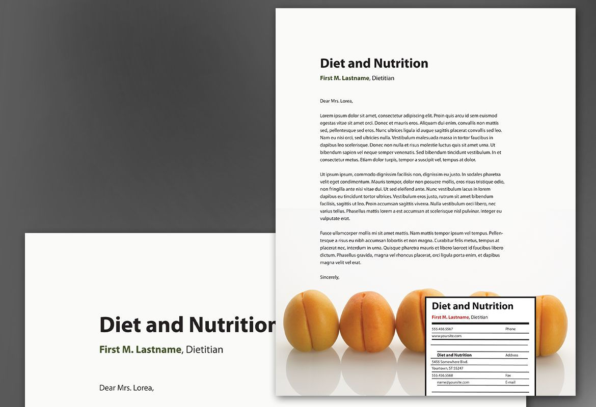 Health and Nutrition Letterhead Design Layout