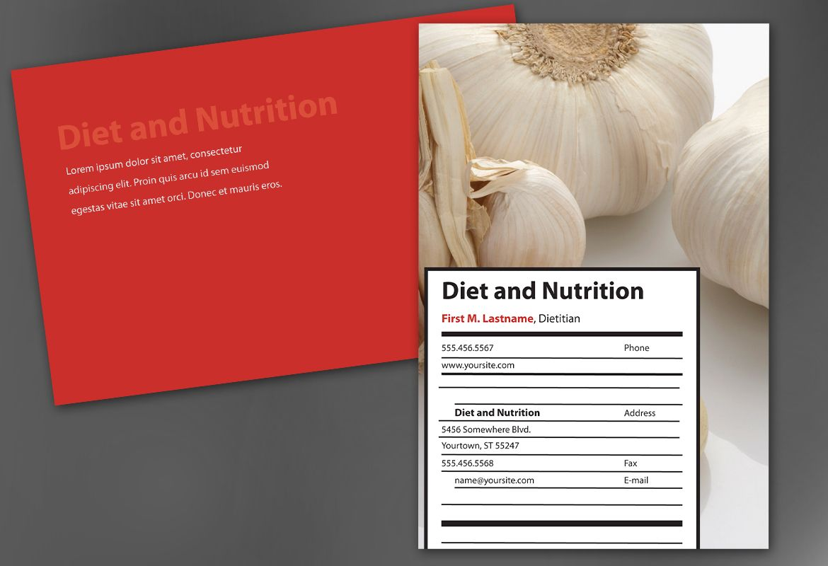 Health and Nutrition Postcard Design Layout