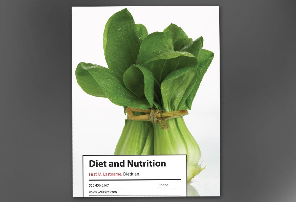 Health and Nutrition Poster Design Layout