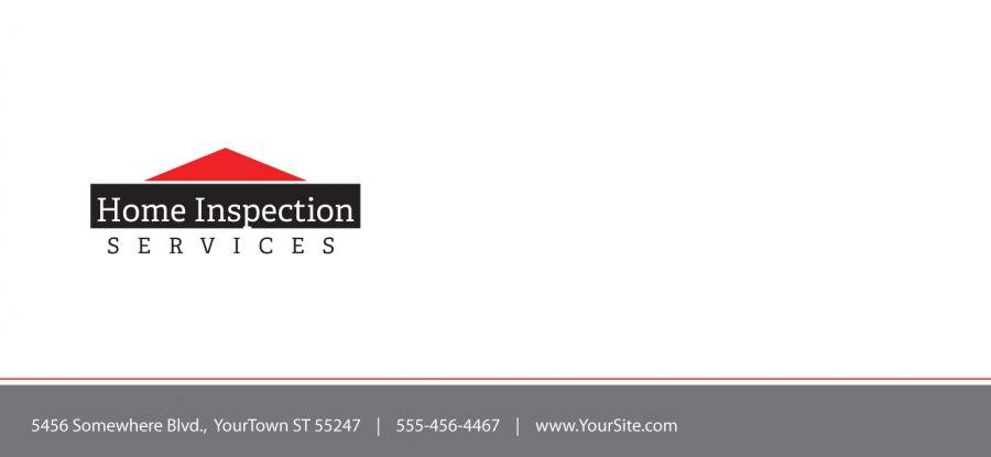 Building Inspection Services : Envelope template for building inspection services order