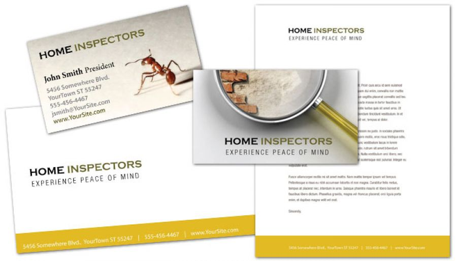 Home Inspection Services Business Card Design Layout