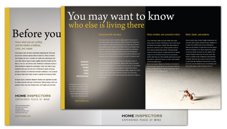 Home Inspection Services Half Fold Brochure Design Layout