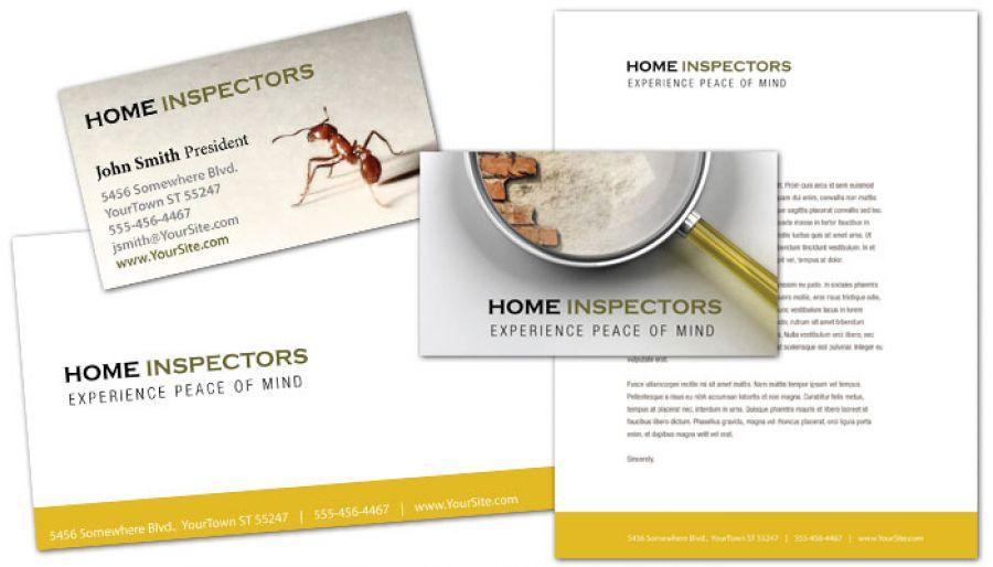 Home Inspection Services Letterhead Design Layout