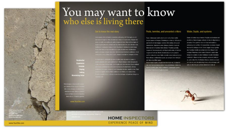 Home Inspection Services Tri Fold Brochure Design Layout