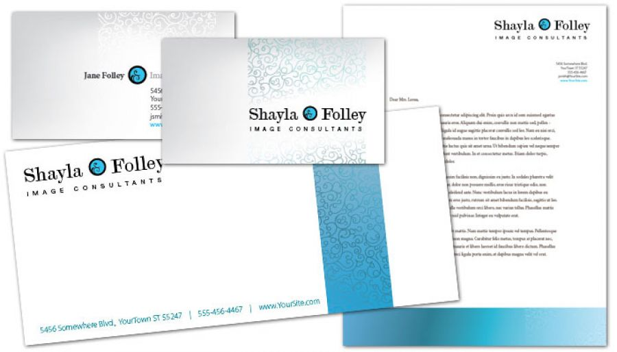 Image Consultant Business Card Design Layout