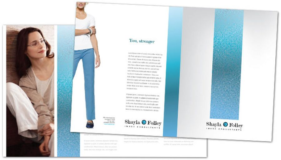 Half Fold Brochure Template For Image Consultant. Order Custom