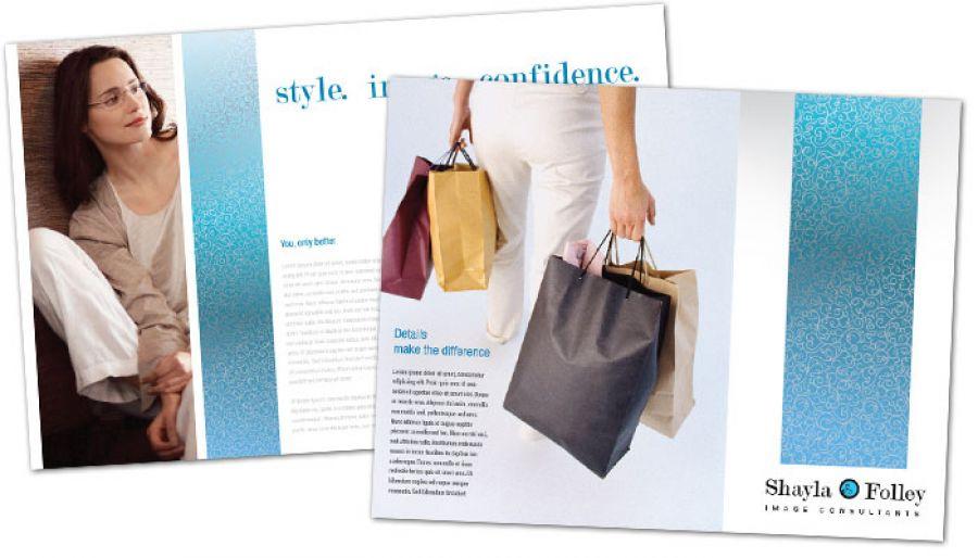 Image Consultant Tri Fold Brochure Design Layout