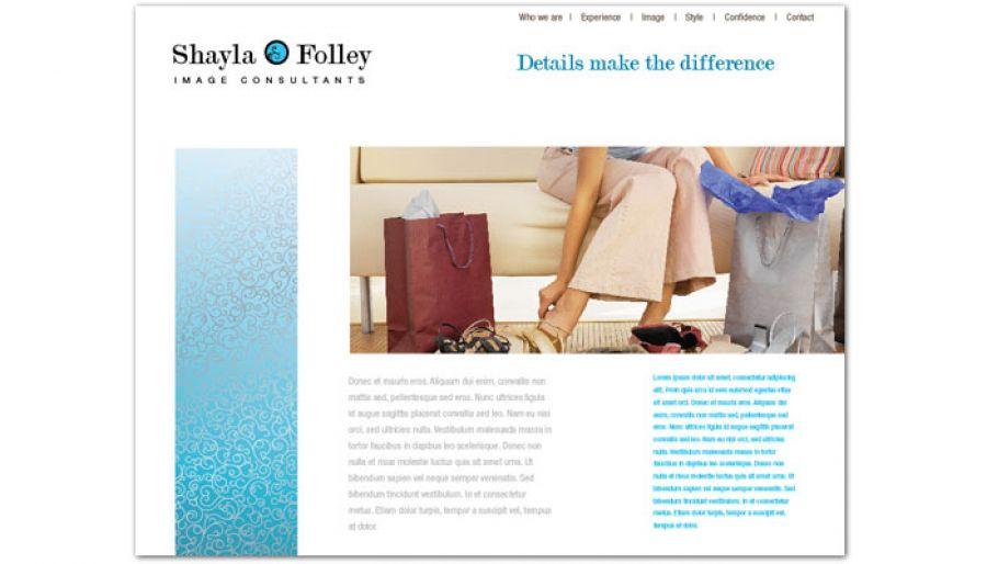 Image Consultant Website Design Layout