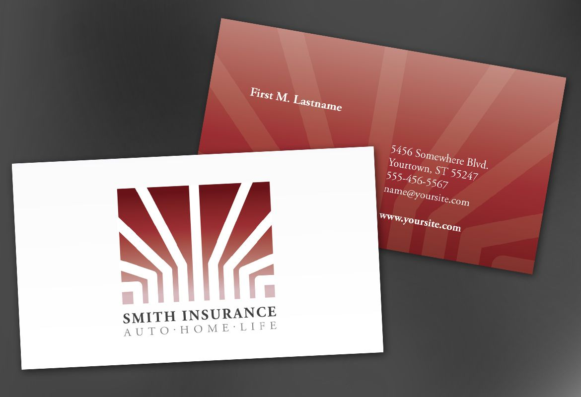 Business Card template for Insurance Agent Insurance Agency. Order ...