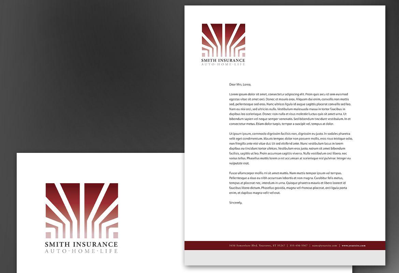 Insurance Agent Insurance Agency Letterhead Design Layout