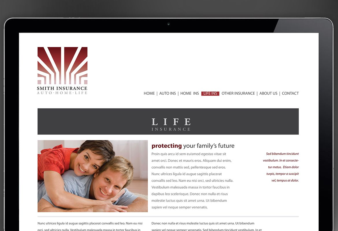 Insurance Agent Insurance Agency Website Design Layout