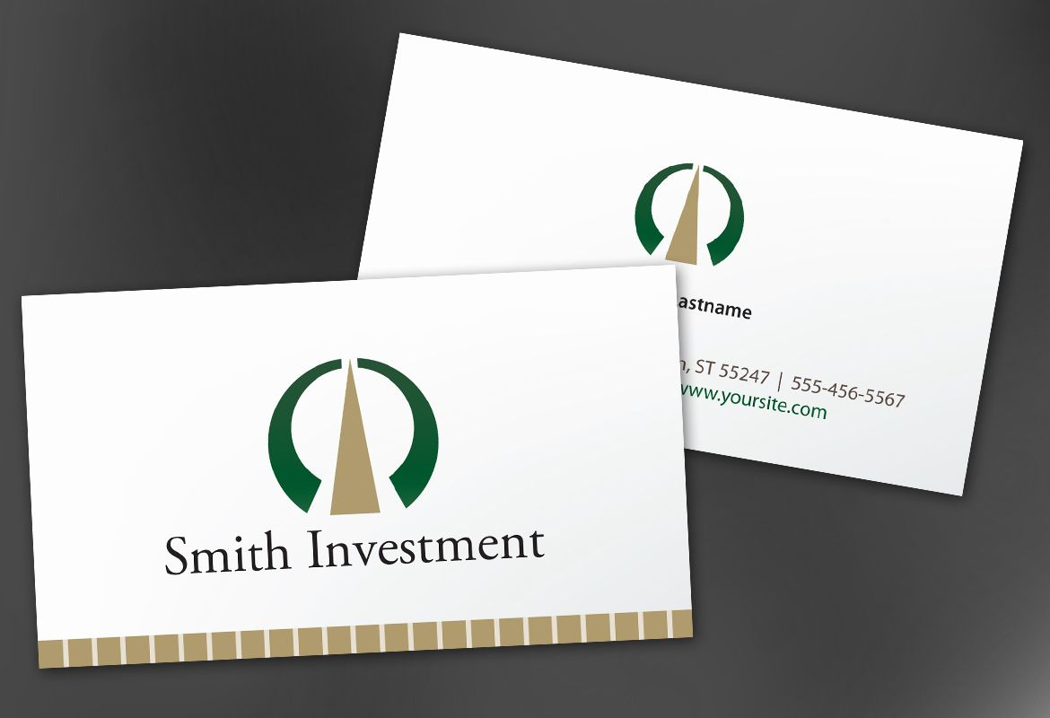 Investment and Professional Firms Business Card Design Layout