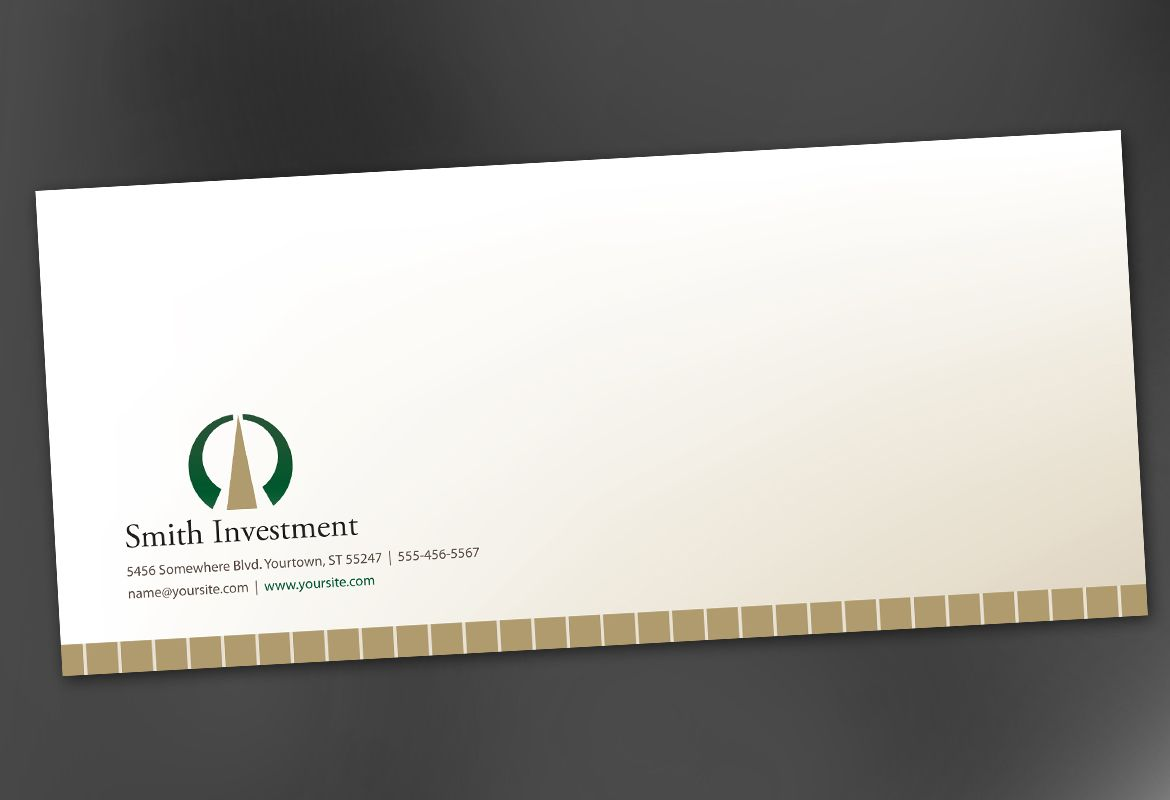 Investment and Professional Firms Envelope Design Layout