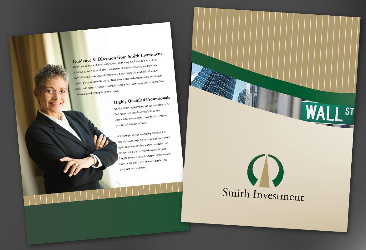Investment and Professional Firms Flyer Design Layout