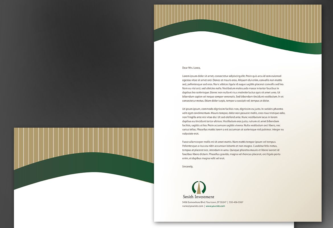 Investment and Professional Firms Letterhead Design Layout