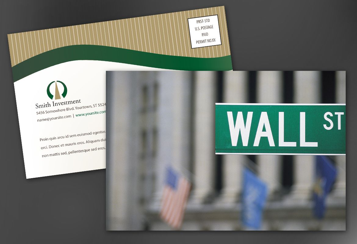 Investment and Professional Firms Postcard Design Layout
