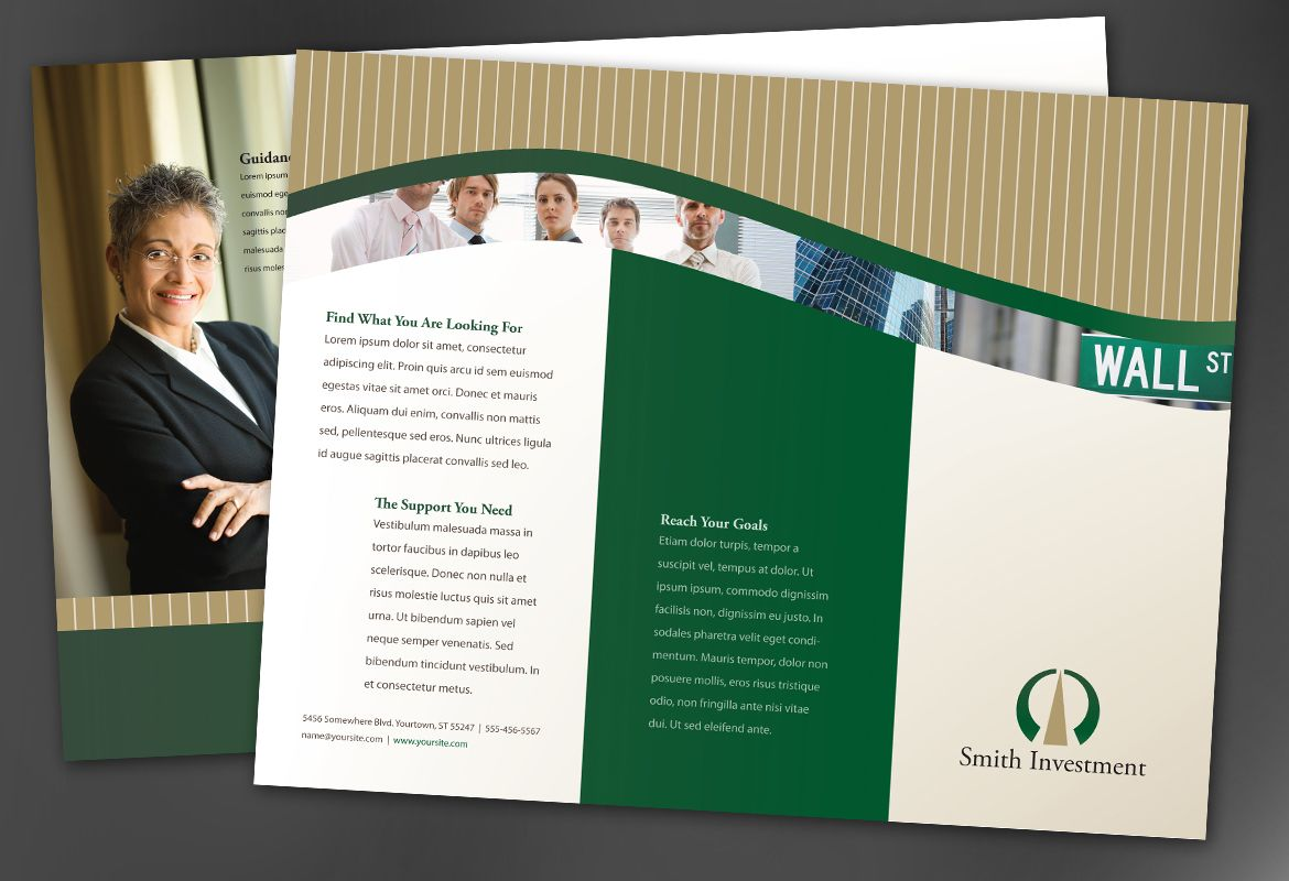 Tri Fold Brochure template for Investment and Professional Firms ...