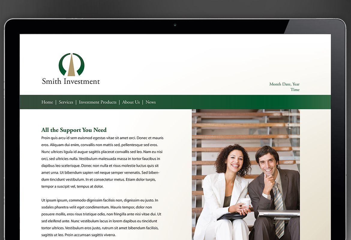 Investment and Professional Firms Website Design Layout