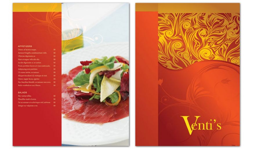 Italian Restaurant Flyer Design Layout