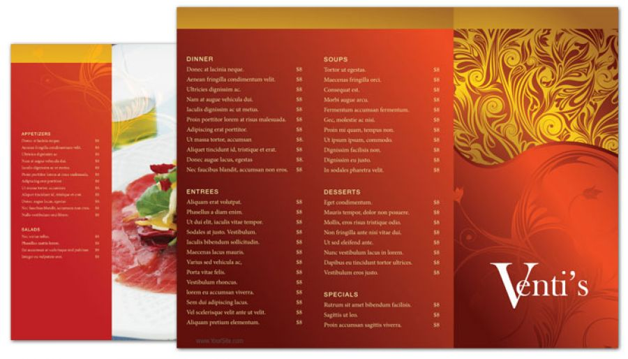 tri fold restaurant brochure template vatoz atozdevelopment co