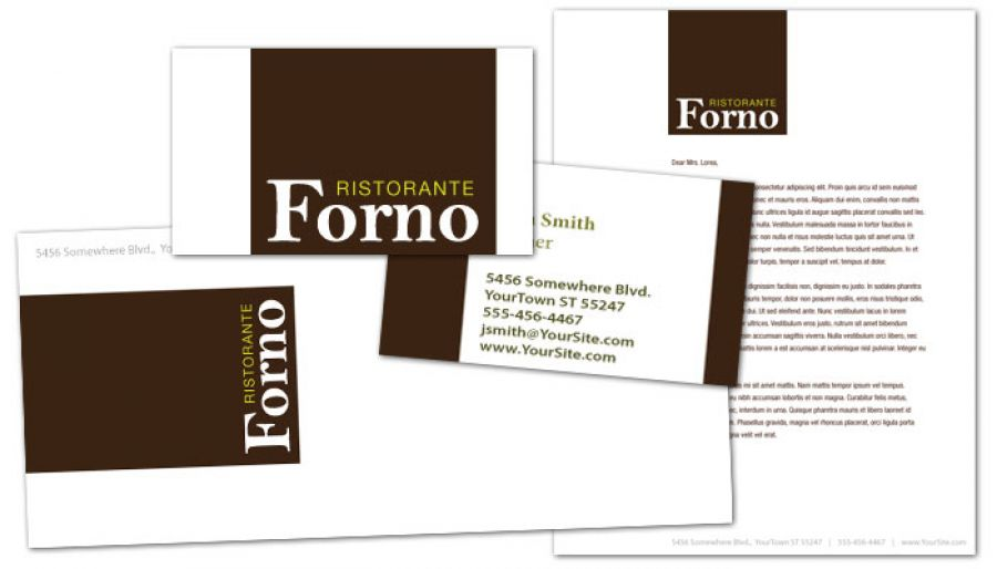 Italian Ristorante Envelope Design Layout