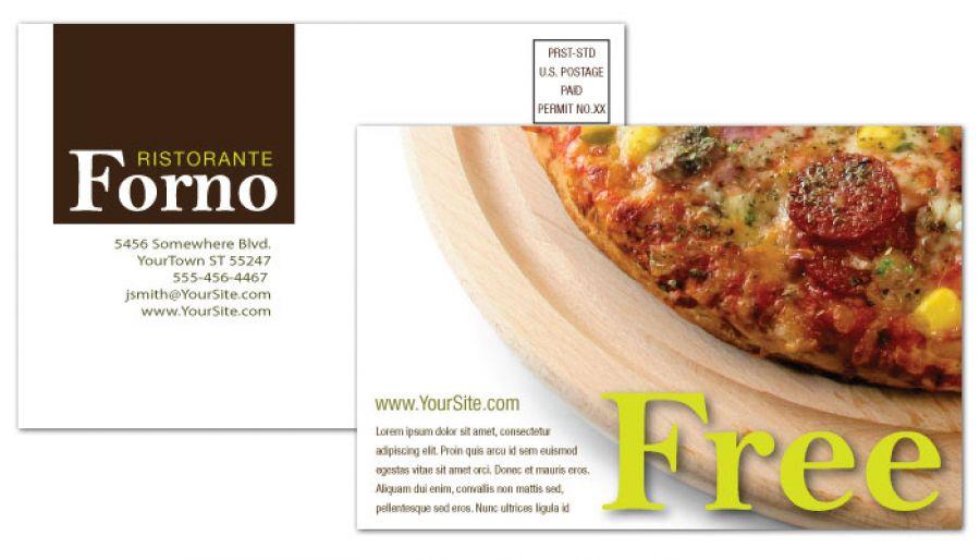 Italian Ristorante Postcard Design Layout