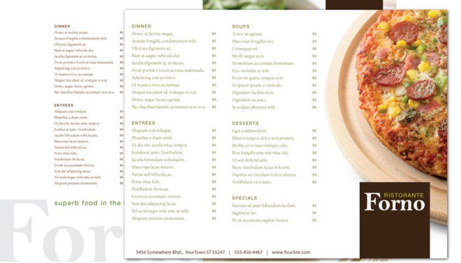Italian Ristorante Tri Fold Brochure Design Layout
